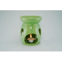 Ceramic Burner - Raindrop Design (Green)